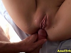 public girlfriend teases before analsex