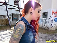 alternative redhead anally plowed doggystyle