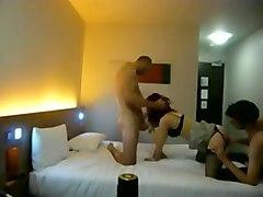 two buddies of mine banged dirty like mud amateur hooker in the motel