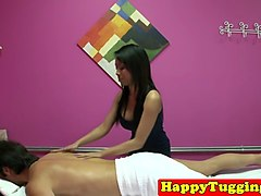 busty asian masseuse on spycam wanking cock