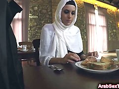 sexy arab girl banged on table
