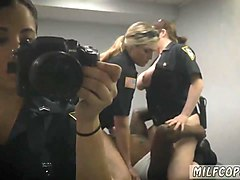 milf gives blowjob and tiny gangbang milf cops