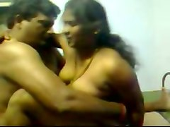amateur sex tape of indian lewd couple fucking in missionary position