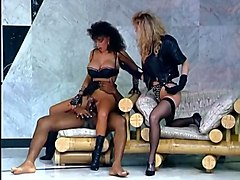 marvelous and busty white milf in black lingerie rides on a bbc