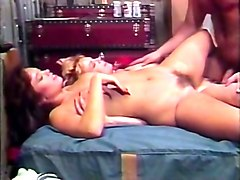 sexy vintage blonde and redhead babes having threesome