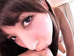 cumshot on japanese girlfriend in pov