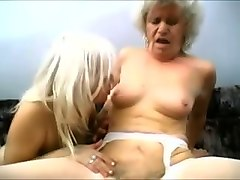 outrageous blonde grannies are crazy about big white cock
