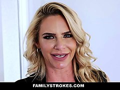 familystrokes - sexy milf fucks stepson and dad
