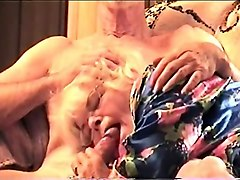 sucking me in her silk robe with flowers on it