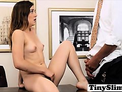 a pretty teen virgin gets her initiation from a dude