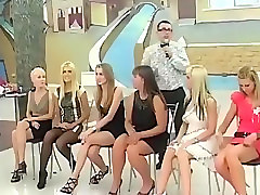 Russian bridesmaids playing an interesting wedding game
