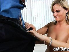 dong loving mom gets her asshole rammed and creampied
