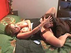 Milf in Nylons and Young Guy