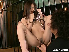 3some for the asian cock gobbler who loves the rough stuff