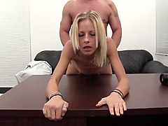 Super skinny young amateur fucked in the casting office