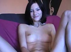 slut plays with herself