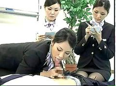Japanese Stewardess Demonstrates Proper CPR Procedures