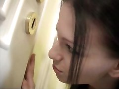 Horny Teen Sneaks Ibnto Bathroom To Get Fucked