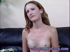 Cute Blonde Sexkitten Likes Gagging On Cock