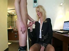 Mature Blonde Whore With Younger Guy