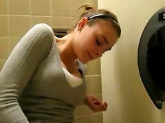 Girl Surprise During Orgasm In Toilet