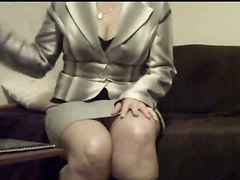 Secretary Solo Masturbation