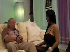 Super Hot Big Boobs Has Sex With Her Old Grandad