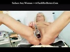 Granny Gets Her Pussy Checked Out By The Gyno Doctor In This Clip