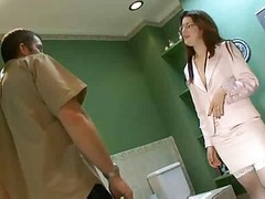 English Nurse Bathroom Anal