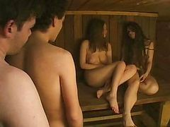 Steamy Russian Sauna Sex